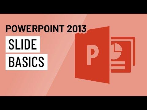 PowerPoint 2013: Slide Basics