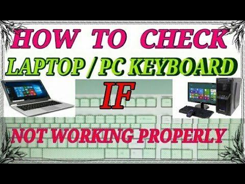 How to Check Laptop / PC Keyboard if Not Working Properly | Hindi