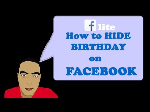 How to Hide Birthday on Facebook Using Mobile Phone on your Facebook Lite Application
