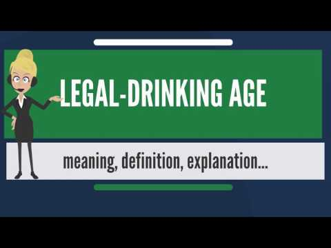 What is LEGAL DRINKING AGE? What does LEGAL DRINKING AGE mean? LEGAL DRINKING AGE meaning
