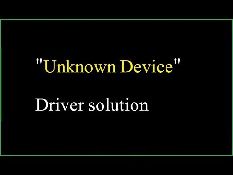 Unknown device driver solution.