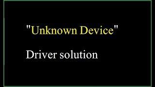 FIX] How to solve Unknown Device Driver Error - PakVim net