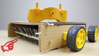 How to Make a Remote Controlled Floor Cleaning Machine from Cardboad