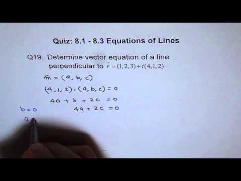Vector Equation of Perpendicular Line Q19