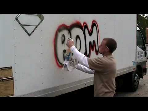 Tagaway® Graffiti Remover - Removes Graffiti from a Truck