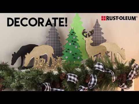 Christmas Reindeer Decor How-To With Rust-Oleum® Metallic Gold Spray Paint