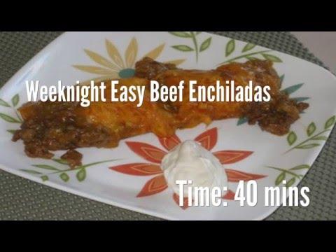 Weeknight Easy Beef Enchiladas Recipe