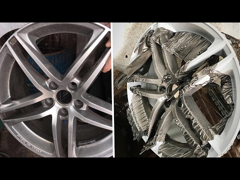 Stripping/Removing paint from Alloy Wheels with ACID