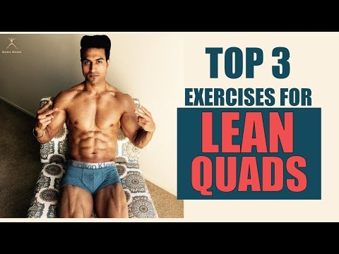 Top 3 Exercises to build LEAN QUADS | Guru Mann's pick