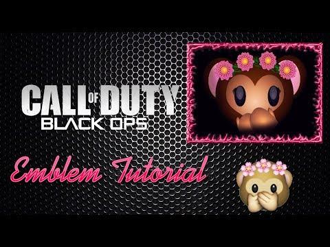 Black Ops 3 Monkey emoji With flower crown Emblem