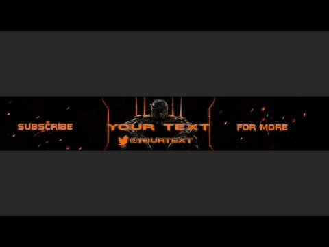 Black Ops 3 FREE YouTube banner Template