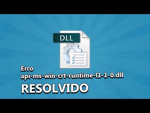 Erro api-ms-win-crt-runtime-l1-1-0.dll Resolvido