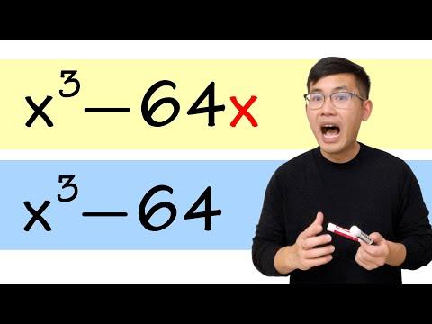 Factor x^3-64 vs Factor x^3-64x