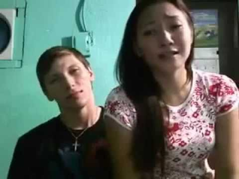 American guy duets with his Filipina girlfriend -