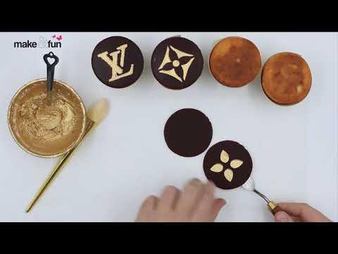 Louis Vuitton Cake, Decorating Cookie, Piping gel, Designer Cake Stencil, Kuchen Schablone