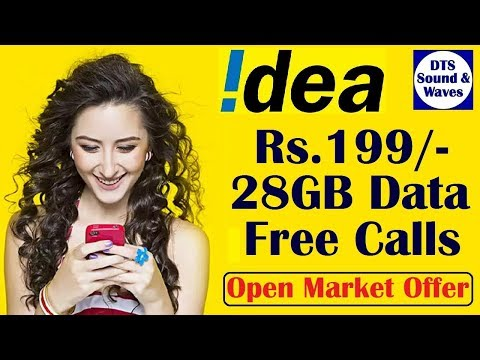 Idea Rs.199/- L/STD/Rom Calls+1GB/day Data for 28days
