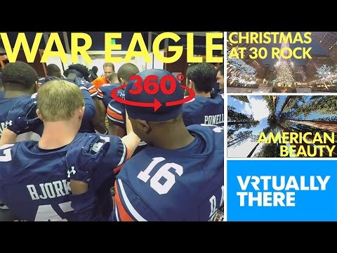 Experience game day in VR with Auburn Tigers, climb Christmas tree at 30 Rock