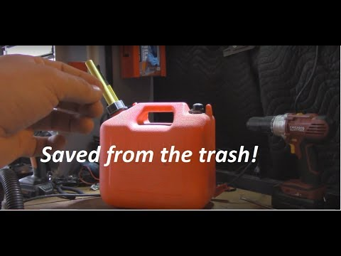 Fix for Broken Gas Cans! Replace your Nozzle!!