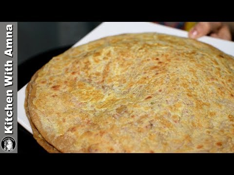 Egg Spread Aloo Paratha Recipe - Sehri Special Recipe - Kitchen With Amna