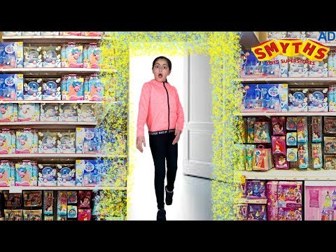 OVERNIGHT TOY HUNT in Smyths TOY STORE -Magic Wardrobe SKIT Part 2⏰  Secret Safe Diary Ivtech Ad