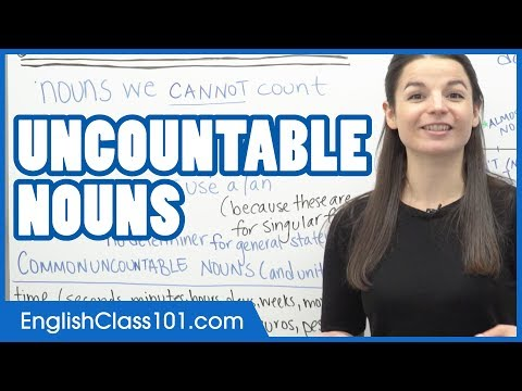 Uncountable Nouns - Learn English Grammar