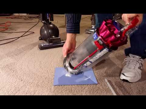 Dyson DC65 Baking Soda in the Carpet Test