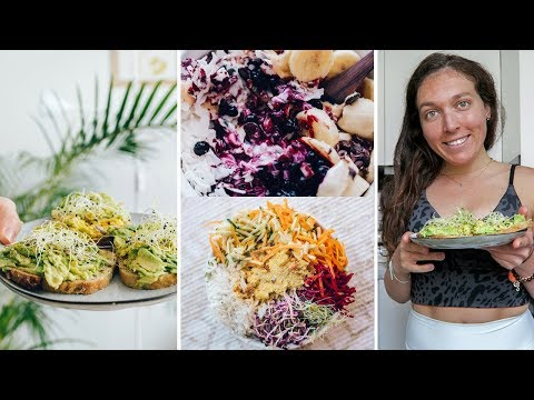 WHAT I EAT when I do yoga & eat lunch at 3pm - vegan