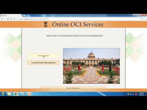 India - Change or Update Information in OCI Card