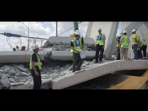 FIU Florida International Bridge, 2 DETENSIONING rods, wrong position of longitudinal PT cables