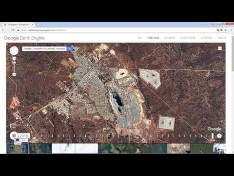 Google Earth Engine Timelapse, Fimiston, Las Vegas, Dubai from 1984 to 2016