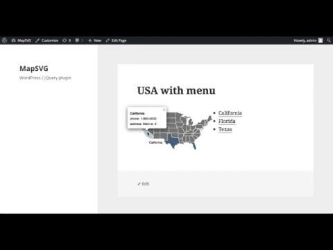 MapSVG 2.x tutorial: interactive vector map with menu in WordPress
