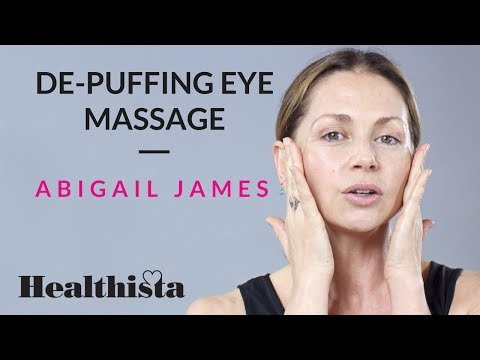 How to get rid of puffy eyes with face massage - expert video