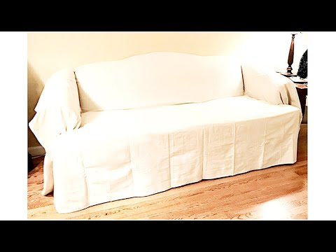 Home Decor || Drop Cloth Sofa Covers || An Easy & Inexpensive Way to Change up Your Room