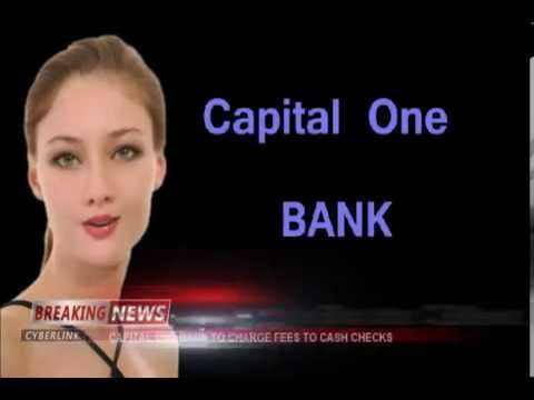 CAPITAL ONE BANK announces check cashing fee that will likely impact minorities and the poor