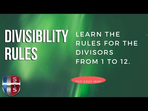 Middle School - Divisibility Rules