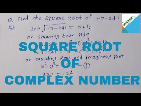 How to find square root of complex number| in Hindi