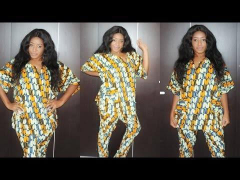 DIY ANKARA T TOP AND PANTS (EASY SEWING)