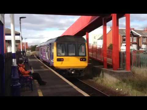 Northern Trains 142045 leaves Blackpool Pleasure Beach