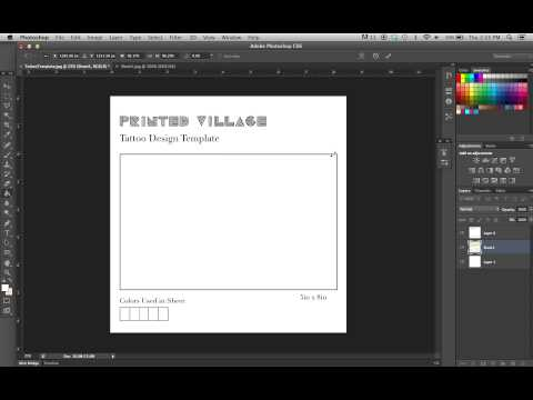 Photoshop Tutorial -  Learn How To Use The Tattoo Design Template