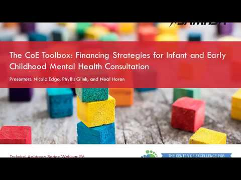 Strategies to Finance Infant and Early Childhood Mental Health Consultation