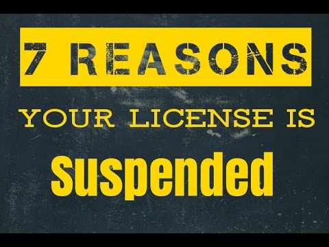 Suspended Driver's License in Maryland: 7 reasons why yours is suspended (Updated 2018)