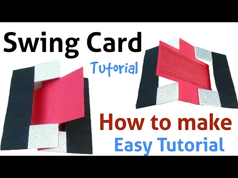 How to make a Swing Card | Easy Tutorial | Easy Handmade card for father |
