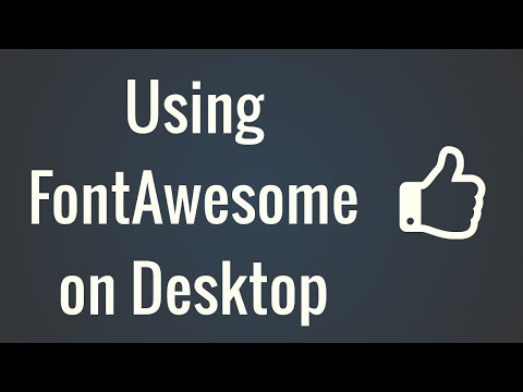 Using Font Awesome in Desktop Applications (OS X)