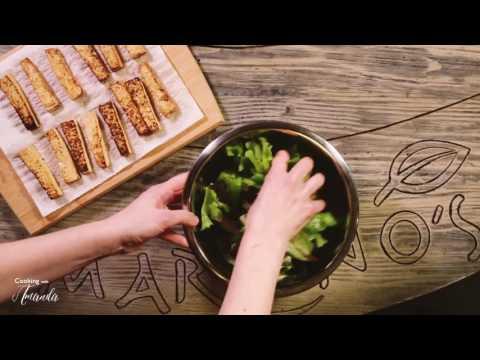 How to Make a Marinated Tofu & Mixed Greens Salad