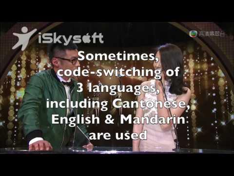Code switiching in TV programs in Hong Kong