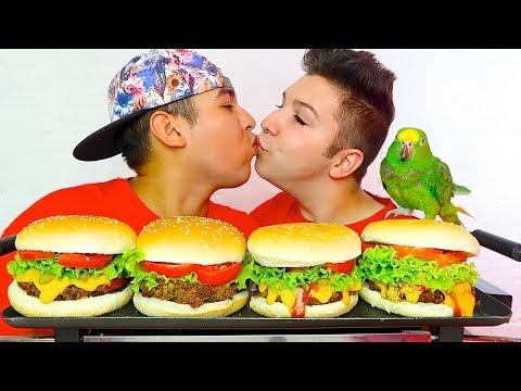 Burger Challenge With My Boyfriend • MUKBANG