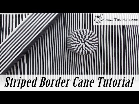 How to Make Striped Border Canes