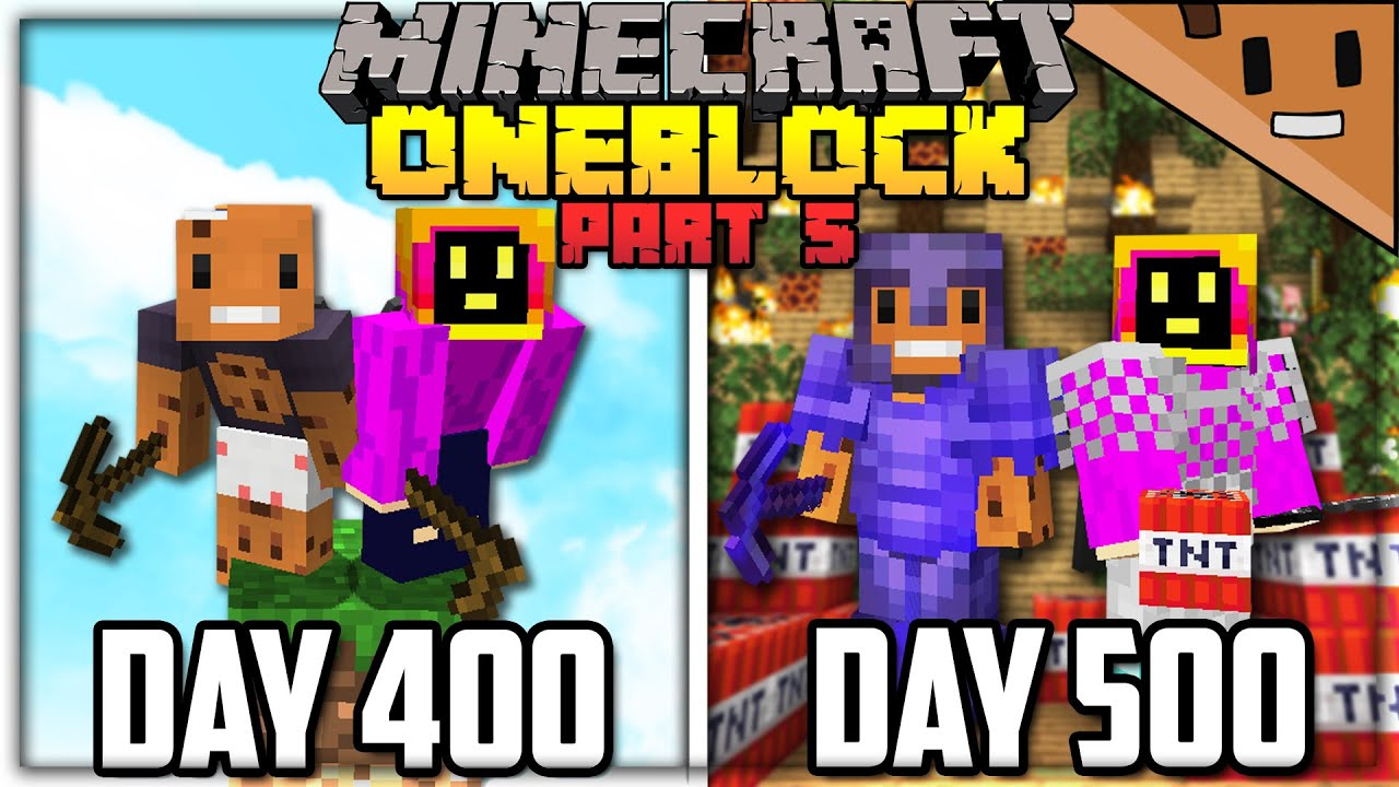 We Spent 500 Days in ONE BLOCK Minecraft... Here's What Happened (ft. NotPaulGG)