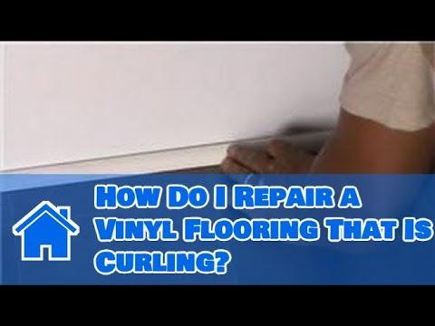Vinyl Flooring Maintenance & Cleaning : How Do I Repair a Vinyl Flooring That Is Curling?