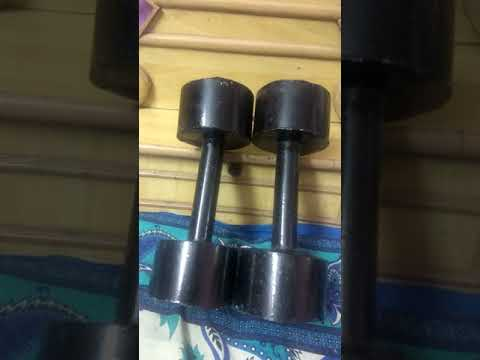 How to make dumbbells at home last part